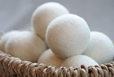 Little-Likes 6-Pack XL Premium 100% Wool Dryer Balls, 100% Organic Wool - Handmade - Eco-friendly - Natural Fabric Softener, Great Gift!!