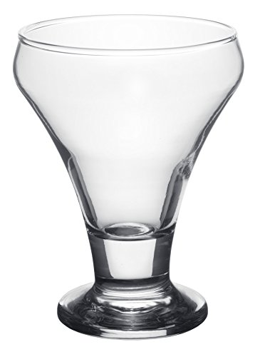 Red Co. Just Desserts Crystal Clear Glasses, Dessert Cup for Parfait or Fruit Salad, Footed Ice...