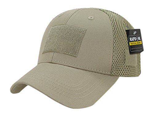 RAPDOM Tactical Low Crown Air Mesh Tactical Caps, Khaki