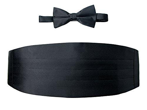 Spring Notion Men's Cummerbund and Bow Tie Set Black ()