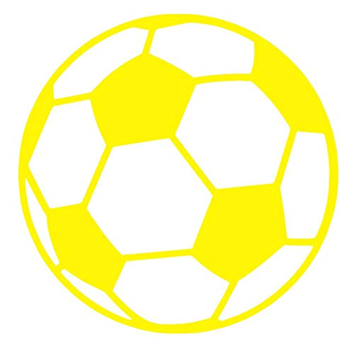 Soccer Ball [Pick Any Color] Vinyl Transfer Sticker Decal for Laptop/Car/Truck/Window/Bumper (3in x 3in (Laptop Size), -