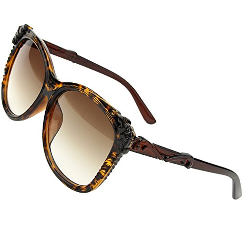 Sumery Women 2016 Retro Round Frame Sunglasses Ladies 4PCS (Hawksbill, - Wood Sunglasses Frame Cartier