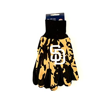 MLB Officially Licensed Team Colored Camo Work Utility Gloves (San Diego Padres)