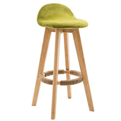 - ,Barstools,Chairs offce Barstools Barstools Chair Bar Chair Solid Wood Cafe High Stool Bar Stool Armchair Bar Chair Rotatebar WEIYV (Color : Green 60cm, Size : A)