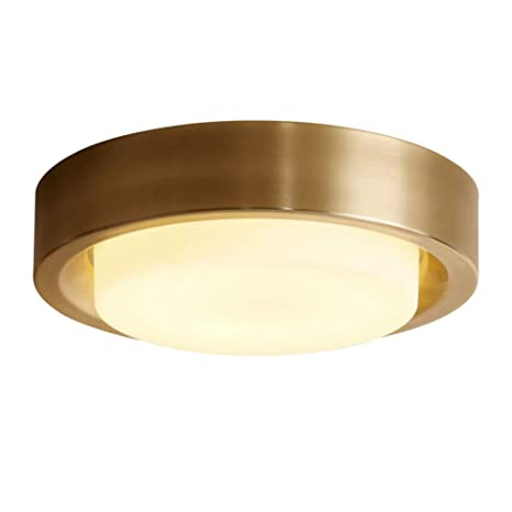 CUICANH Latón LED Lámpara de techo,Montaje empotrado ...
