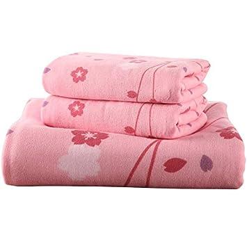 BB.er Juego de Toallas de baño de Gasa Juego de Toallas Absorbente Suave de algodón para el hogar: Amazon.es: Hogar