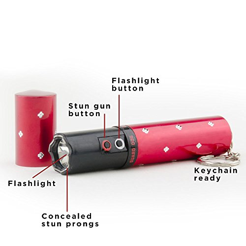 Guard Dog Electra Lipstick Stun Gun with Bright 100 Lumens LED Flashlight, Maximum Voltage, Built-in Keychain, Rechargeable