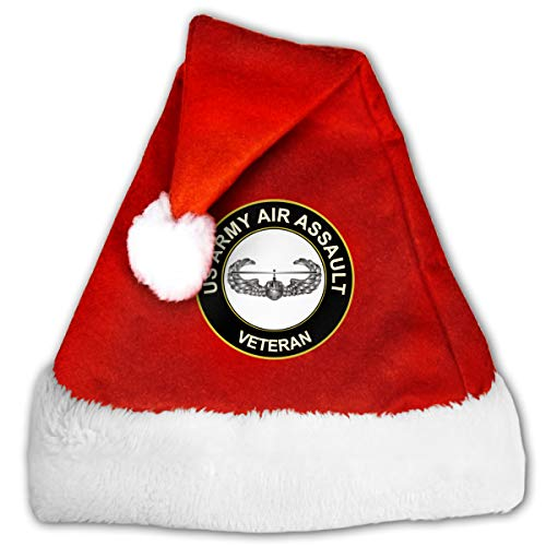 US Army Air Assault Veteran Christmas Santa Hat for Adult & Children