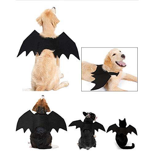 Nesee Halloween Pet Shirt, Cute Bat Vampire Puppy Outfit Wings Fancy Soft Vest Dress Dog Cat Costume Apparel (S) ()