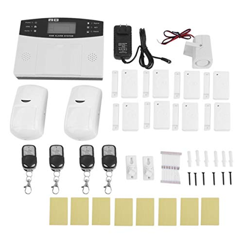 Wireless Zones Voice Home Security LCD GSM SMS Alarm System Auto Dialer Remote Control PIR Infrared Detector
