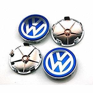 4 piezas 68 mm Azul Rueda Center Hub Caps para funda para Volkswagen MK4 MK5 MK6 volkswagen golf Volkswagen Polo Volkswagen Passat Volkswagen Sagitar ...