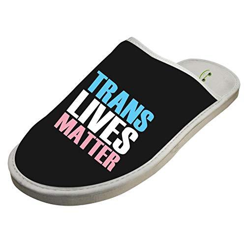 Cotton Matter Washable Trans Lives Slip White Slippers Foam Indoor Non 5C5pw