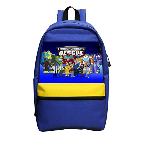 Kids School Backpacks Tra-Nsf-ORme-rs Res-cUE Bo-TS Casual Daypack School Bags Bookbag For Boys Girls
