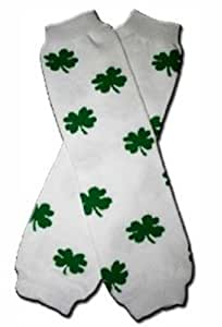 ST PATRICK's DAY (Clover) SHAMROCK Baby Leggings Leg Warmers-Irish Luck