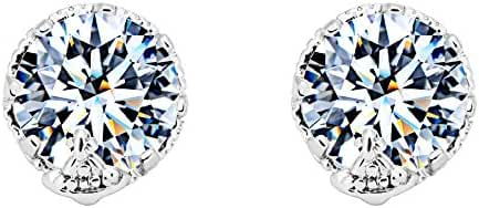 Cubic Zirconia Earrings-Women's Stainless CZ Simulated Diamond For Valentine,Wife,Lover,Girlfriend Gift