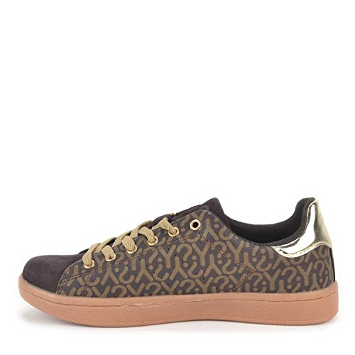 Scarpe donna Y Not Sneakers basse Linea Why colore Moro