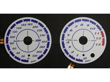 オダックス(Odax)  ELメーターパネル AS type ホワイトパネル ZZR1400 [ZX-14](ABS無)06-11) OXP-311030-1AS   B004HNKA3I