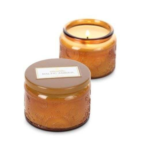 Voluspa Amber Resin Candle - Voluspa Baltic Amber Petite Candle Glass Jar 3.2 oz