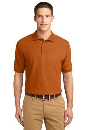 Texas Silk (Port Authority - Silk Touch Polo. K500 - Texas Orange_L)