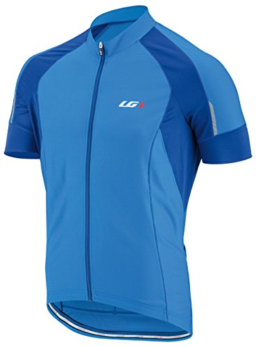Louis Garneau Men's Lemmon Vent Short-Sleeve Jersey - Large - Curacao Blue