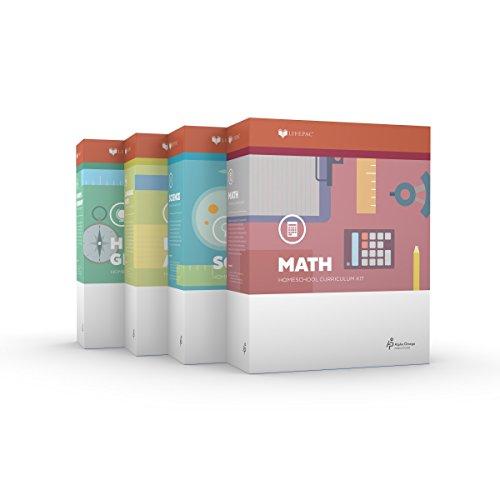 Grade 3 Christian Homeschool Curriculum 4-Subject Set +Teacher Guides Language Arts Math Science Social Studies for Homeschooling 3rd Alpha Omega Lifepac
