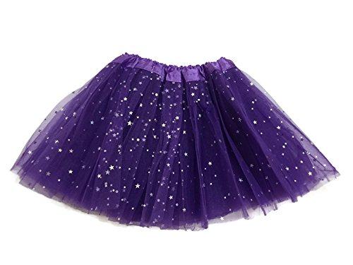 (Rush Dance Ballerina Girls Dress-Up Sparkling Stars Sequins Costume Recital Tutu (Kids (2-8 Years Old), Purple))