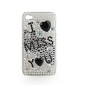 YXF Protective PVC Case with Jewel Cover for IPhone4