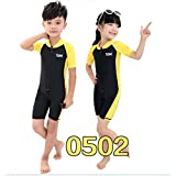 Short-sleeve one piece Uv protection swimwear swim suit for kids