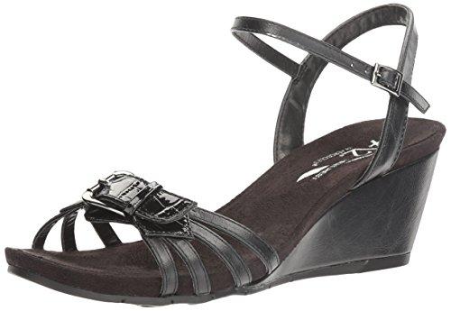 A2 Da Aerosol Womens Sandalo Con Zeppa Torta Sandalo Nero