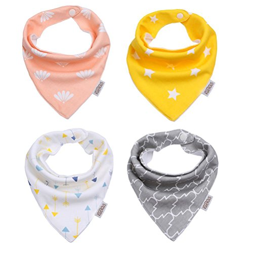 Baby Bandana Bib Set,4-Pack Super Absorbent Drool Bandana Bibs for Boys and Girls Shower Gift Set , Super Absorbent-Variety of Options - Halloween You Should For Be What