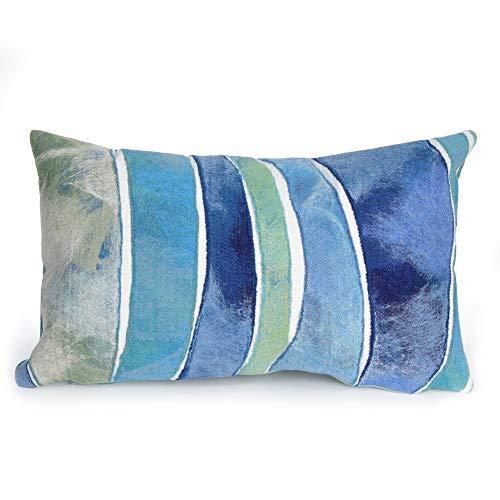 (Liora Manne 7SC1S312604 Visions III Casual Waves Indoor/Outdoor Lumbar Pillow 12