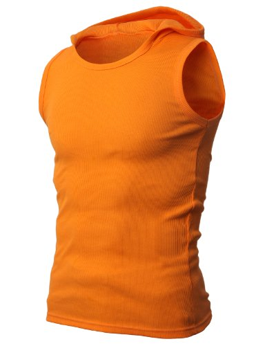H2H Mens Hooded Sleeveless T-shirts Tank Top of Various Styles and Colors