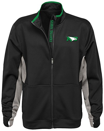 NCAA North Dakota Men's'First String' Full Zip Jacket, Dark Green, Men's X-Large
