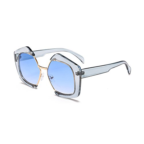 Gafas Lentes gradiente diseñador Marca B Mujer de Acetato Burenqi Moda E de Polígono Frame Sol Gafas UV400 Hombre Última qwZEHfp