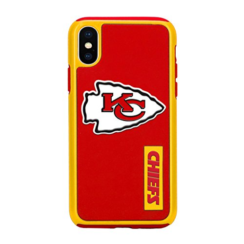 Forever Collectibles iPhone X Dual Hybrid Impact Licensed Case - NFL Kansas City Chiefs - Kansas City Chiefs Glove