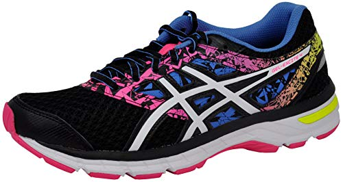 ASICS Women's Gel-Excite 4 Running Shoe, Black/White/Knockout Pink, 7 M US
