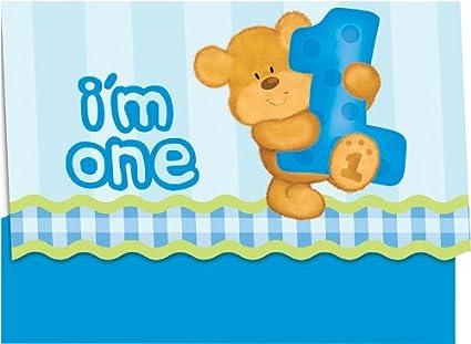 Amazon Com Creative Converting Bears First Birthday Party