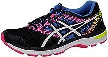 ASICS Women's Gel-Excite 4 Running Shoe (9.5 M US, Black/White/Knockout Pink)