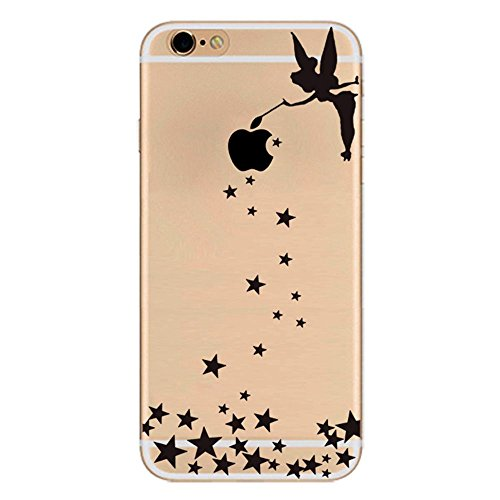 iPhone 7 Cover Silicone, Protettivo Trasparente TPU Shell Case per 4.7 Apple iPhone 7 Slim Flessibile Morbide Gel Anti-graffio Crystal Clear Gomma Bumper Case Modello Ragazza di angelo Design