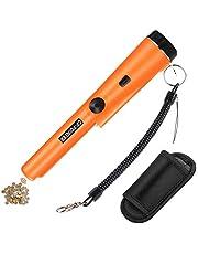 Homealexa Bärbar metallsökare, metall pinPointer IP66 vattentät med inbyggd LED-indikator/larm ljus/360° skanning/hölster för guldmynt hund, reliker, smycken