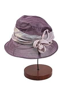 Sombrero de Playa Señora de verano Aleros grandes de seda gorra sombrero para el sol Elegante protector solar Moda gorra UPF 50 para Mujer ( Color : 1 )