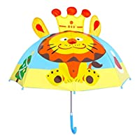 Kids Umbrella - Children Easy Safe Pop Up Lion Umbrella
