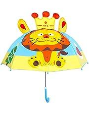 Kids Umbrella - Children Easy Safe Pop Up Lion Umbrella