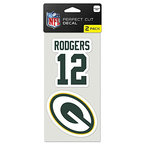 NFL Green Bay Packers 63253012 Perfect Cut Decal (Set of 2), 4