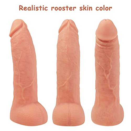 Real Dildos with 10 Vibration Modes, Suitable for Real Dildos for Beginners. Flexible, Realistic Cock with Curved Shaft and Ball Stimulates Clitoris G-Spot Anus