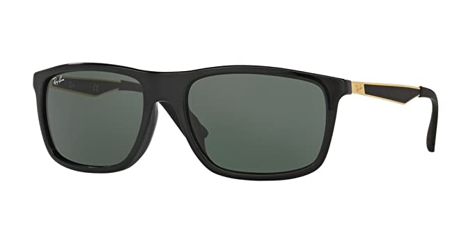 3bd65ef04d Amazon.com  Ray-Ban Mens Sunglasses Black Shiny Green Acetate -  Non-Polarized - 58mm  Clothing