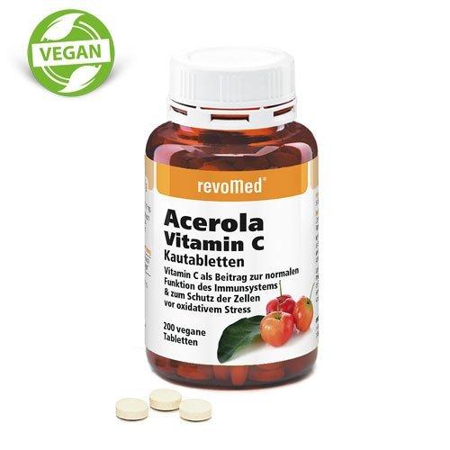 Acerola Vit. C Kautabletten mit natürlichem Vitamin C aus der Acerola-Kirsche für ein gesundes Immunsystem