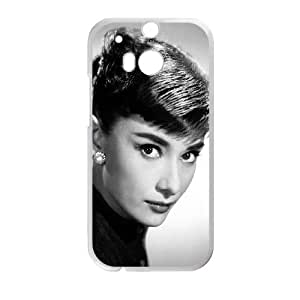 HTC One M8 Cell Phone Case White hd87 audrey hepburn sexy classic celebrity Zaghd