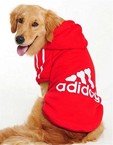 YAAGLE Dog Sweatshirt Hoodie Warm Coat Apparel for Middle Large Big (Wizard Of Oz Dog Type)