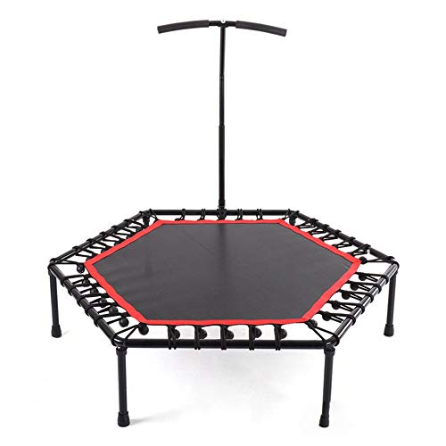 (HUWAI-F Mini Foldable Trampoline 40in Foldable Small Fitness Trampoline with Handle for Outdoor and Indoor use, Weight Capacity: 130 kg)